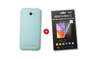 Pack Bumper bleu - Screen protector pour Zenfone ZE500CL