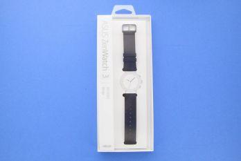 Bracelet marron foncé en cuir pour montre ZenWatch 3