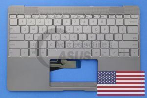 Clavier officiel gris QWERTY US pour ZenBook