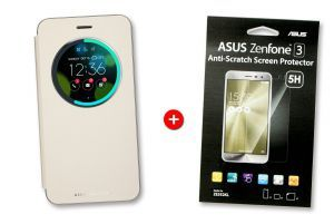 Pack ZenFone 3 View flip cover doré + ScreenProtector