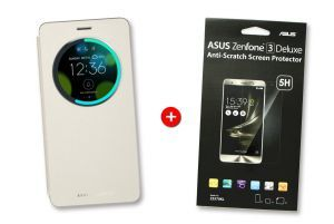 Pack ZenFone 3 Deluxe View flip cover doré + ScreenProtector
