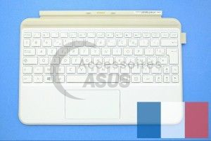 Clavier blanc avec support de protection pour Transformer