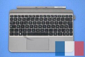 Clavier gris avec support de protection pour Transformer