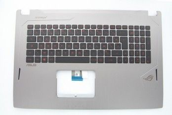 Clavier gris rétroéclairé pour portable Strix ROG