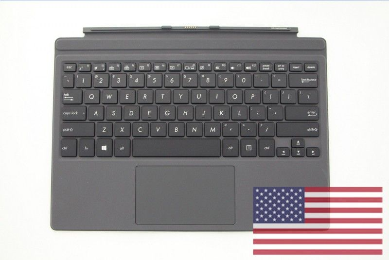 Clavier noir QWERTY avec support de protection gris  3 Pro T303UA