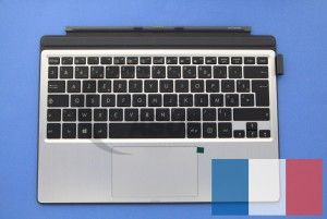 Clavier argent avec support de protection gris Transformer Pro