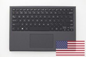 Clavier noir US QWERTY avec support de protection