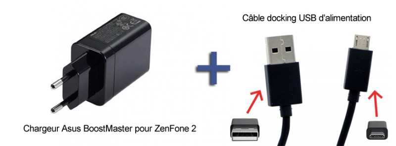 Pack Chargeur noir complet Asus