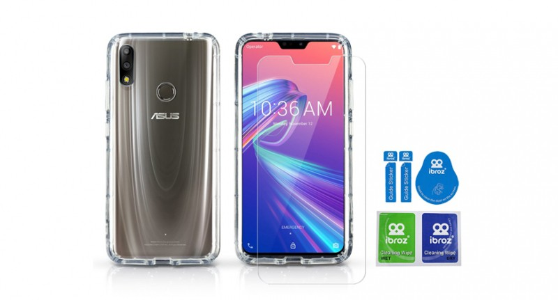 Pack Asus Zenfone Max Pro M2 Coque Hybride + Protection Ecran Full Cover