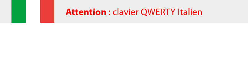 Clavier QWERTY italien