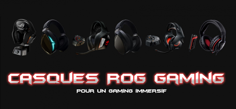 Casques gaming Asus ROG