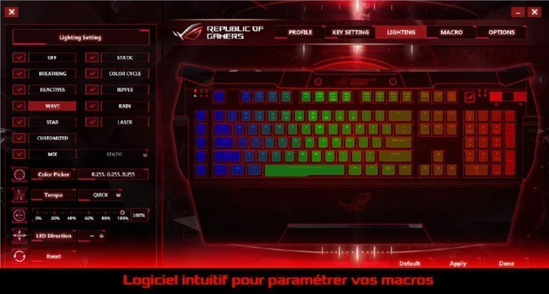 Interface intuitive Asus ROG