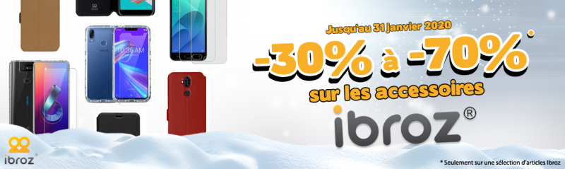 Promotions accessoires smartphone Ibroz